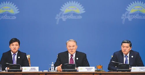 During the Nur Otan congress President Nazarbayev presented his vision for the party's leadership in the 21st century and emphasized its role in the successful implementation of the Strategy 2050.