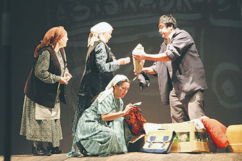 "Theatre lovers enjoyed an undying masterpiece ""White Steamer"" by Aitmatov staged by the Gafuri Bashkir State Academic Drama Theatre as part of the Days of Culture of Bashkorstan in Astana."