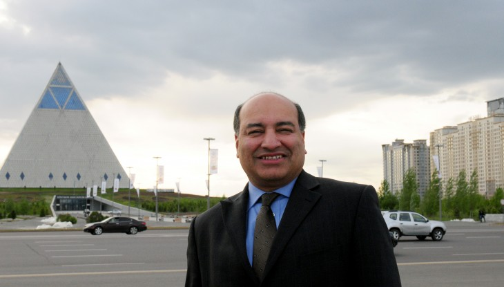 Sir Suma Chakrabarti visited Astana in May 2013 to participate in the Foreign Investor's Council under the President of Kazakhstan.