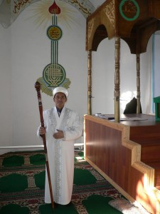 Imam Idin of the Latif Sadyk Uly Musin Mosque in Semey. Oct. 2013. Photo: Ursula Gelis