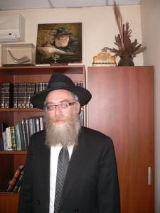 Chief Rabbi of Kazakhstan: Yeshayah Elazar Cohen. Oct. 2013. Photo: Ursula Gelis