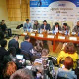"Kazakhfilm gives press conference on preparation to filming ""Kazakh Yeli"" on March 6, Almaty. Photograph: inform.kz"