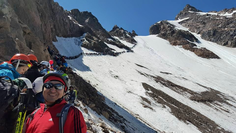 Kuat Dombai at the Alpiniad 040715